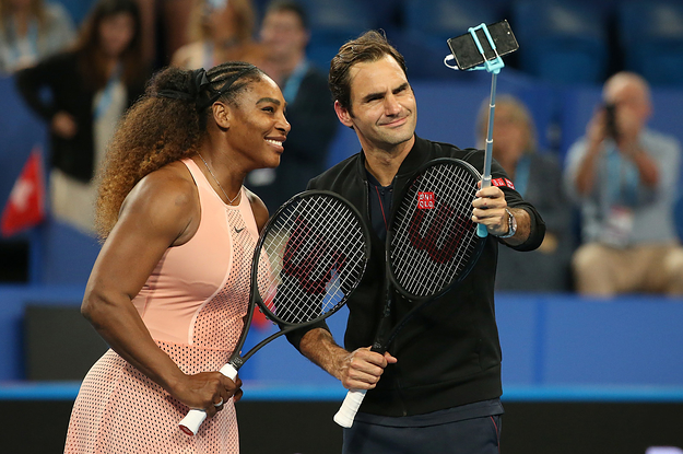 Tennis Legends Serena Williams And Roger Federer Faced Off For The First Time In A Doubles Match