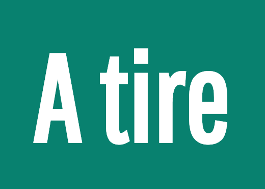 A tire