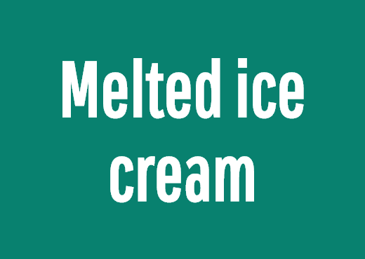 Melted ice cream