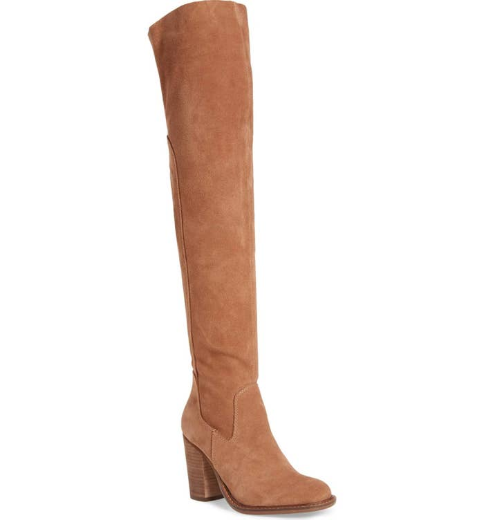 8d3f55e1146 Splurge-worthy suede boots for dressing up any item of clothing you own.  Consider your band tee and leggings combo ready for that birthday dinner  you have ...