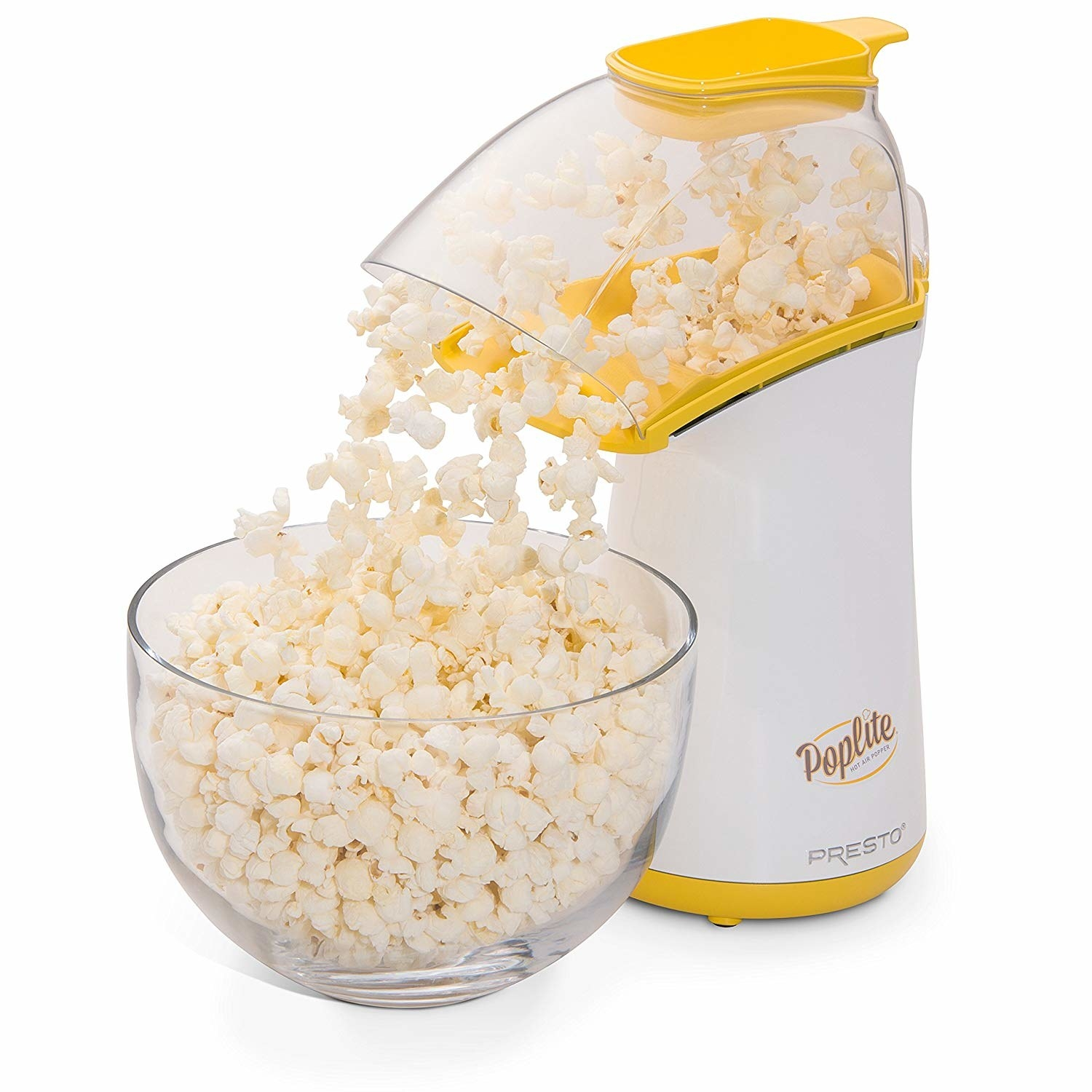 "It can pop 18 cups of popcorn in two and a half minutes, doesn't leave kernels unpopped, and you can add whatever toppings you want!Get it from Walmart for $18.78 (originally $29.99).Promising review: ""I LOVE this air popper! I was spending at least $6.00-$8.00 a week buying organic popcorn from our local grocer and there were always a ton of unpopped kernels on the bottom of the bag. This air popper pops 98% of the kernels and does a great job! The kids love watching it pop and it takes only three minutes. Just don't use a shallow bowl when popping, as those last kernels can really fly out of there easily."" —SoCalrunnergirl"