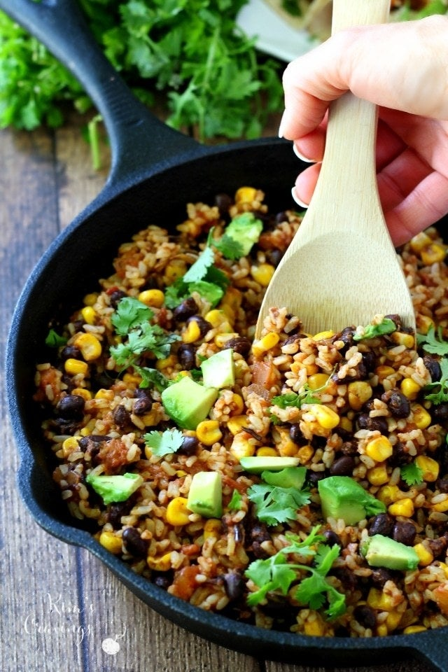 You can spice up this rice with whatever is in your kitchen like jalapeños, avocado, sun dried tomatoes, or even ground meat. Get the recipe.