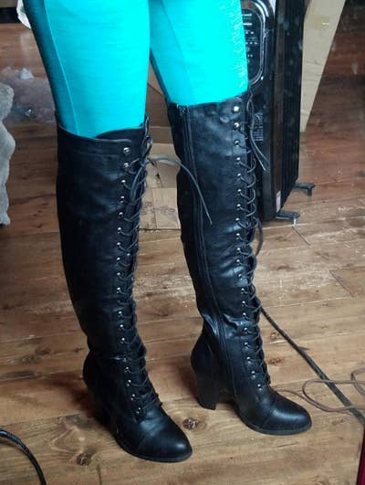 dc3d96bf70d 1. A pair of lace-up over-the-knee riding boots you ll want to wear pretty  much everywhere — and who s stopping you