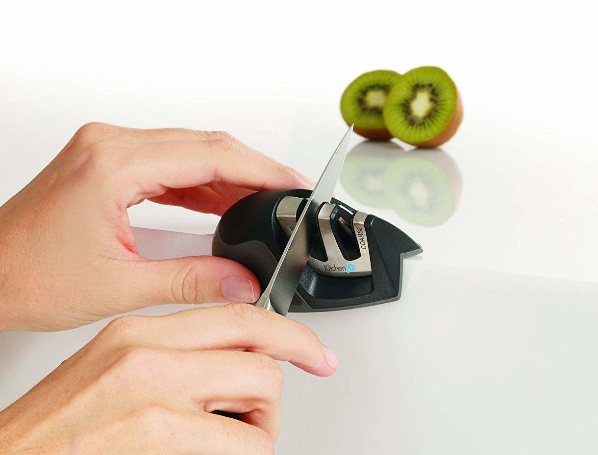 model using the knife sharpener