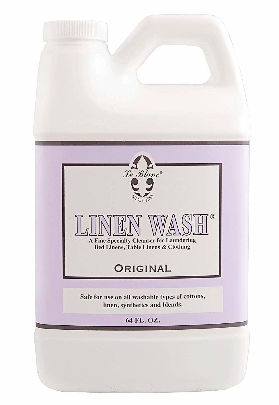 The bottle of Linen Wash in original