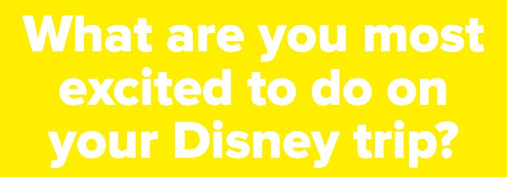 What are you most excited to do on your Disney trip?