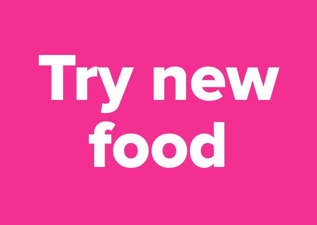Try new food