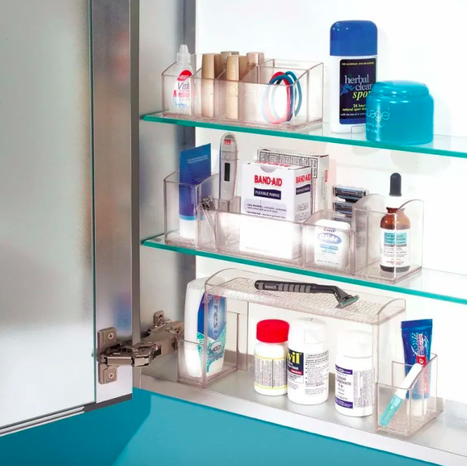 High-rise cabinet organizers
