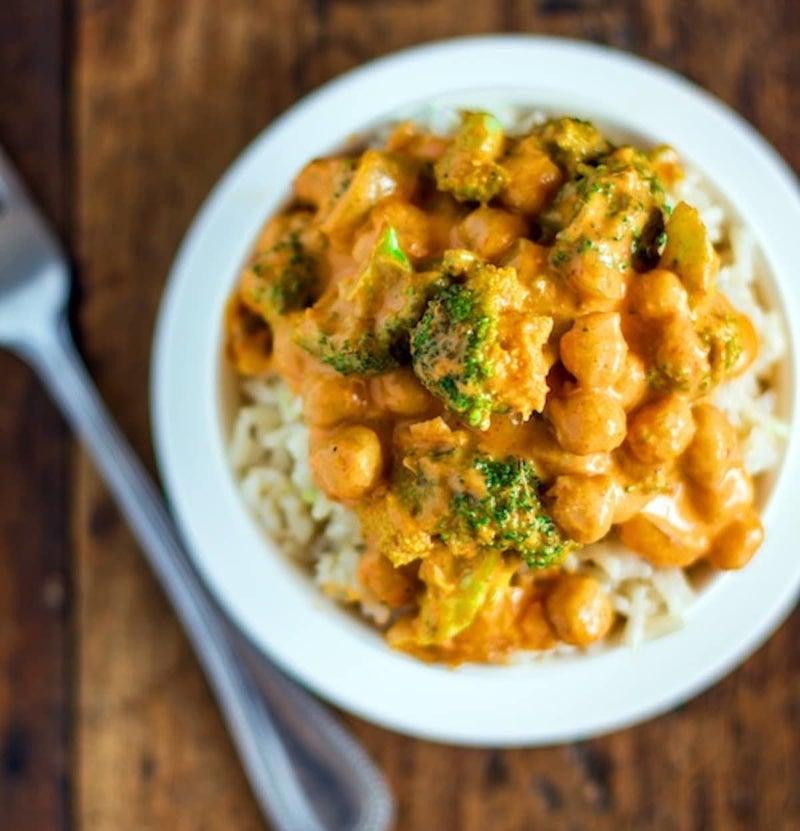 This vegetarian main tastes delicious over basmati rice, cauliflower rice, or quinoa. Get the recipe.