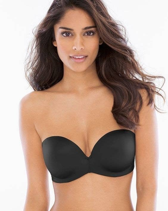 cf761cd74f A strapless bra with a little bit of padding at the bottom and the top of  the cup