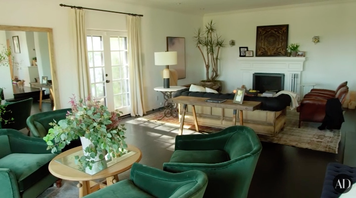 The singer and former Disney Channel actor lives in this tastefully decorated California home. Those chairs in her living room are gorgeous and they look more expensive than my car.