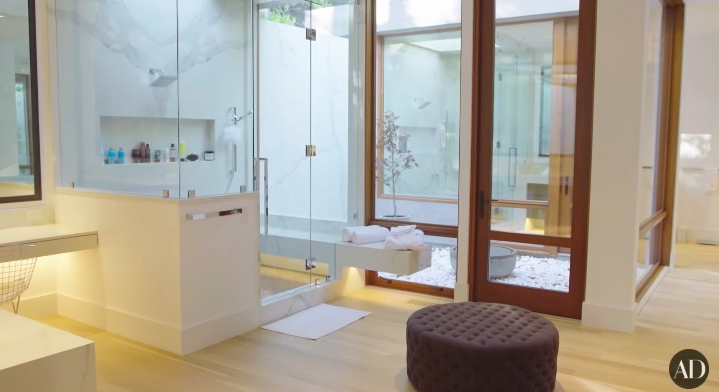 The room in Ricky Martin's home that I'm choosing to leave you with is his MASTER BATH.