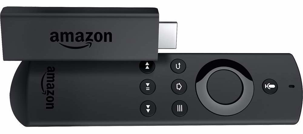 USB-shaped amazon fire stick and small remote