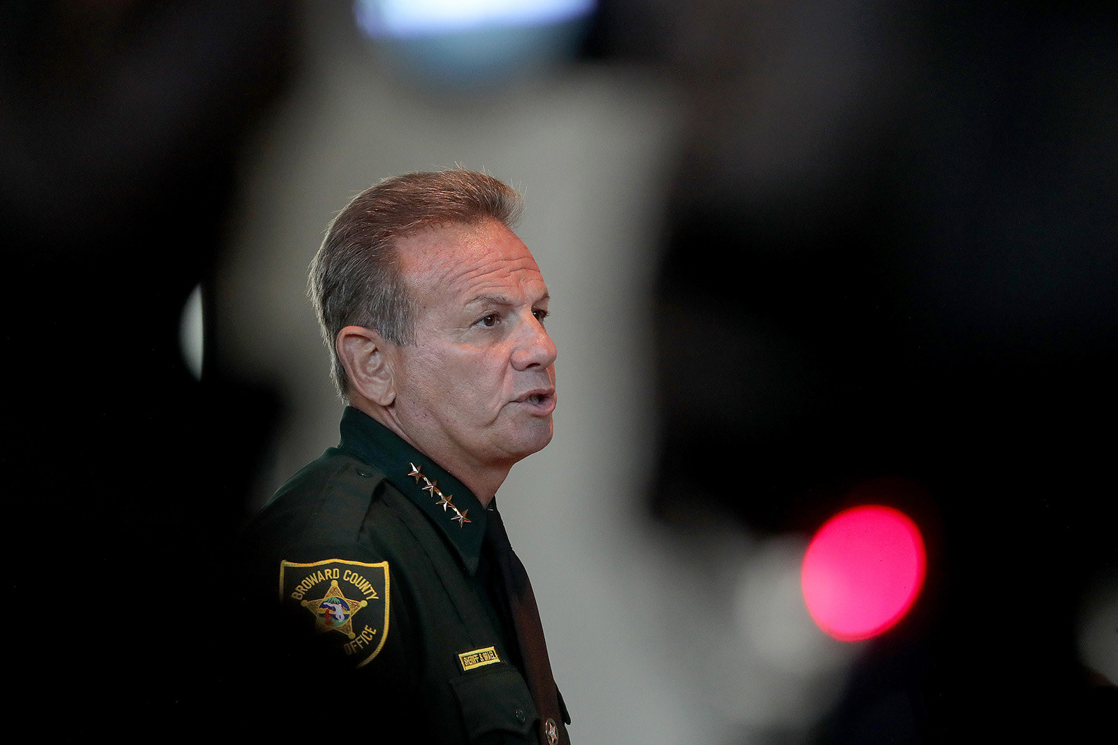 Sheriff Scott Israel speaks at the Marjory Stoneman Douglas High School Public Safety Commission meeting on Nov. 15, 2018.