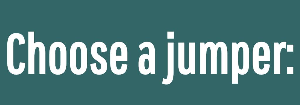 Choose a jumper:<br />