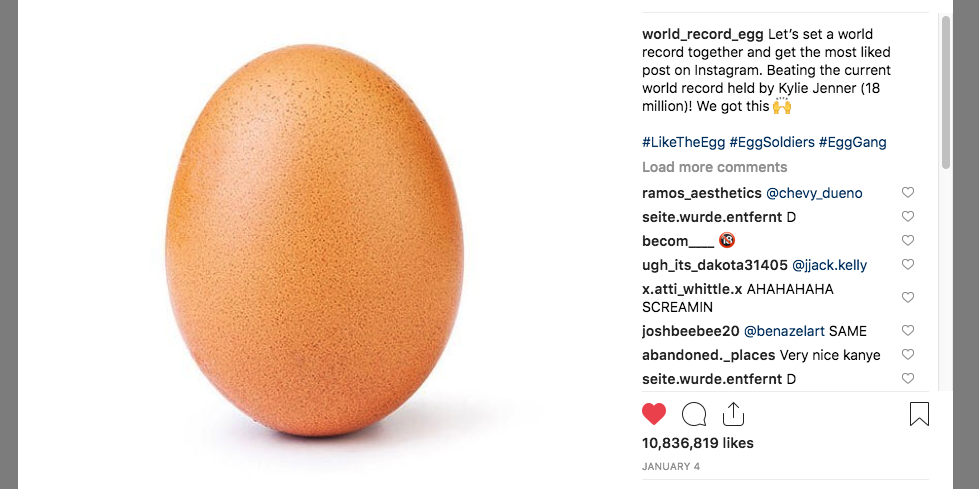 This Egg On Instagram Might Break Kylie Jenner S Record For Likes