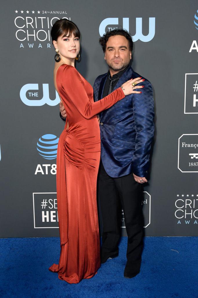 Alaina Meyer and Johnny Galecki