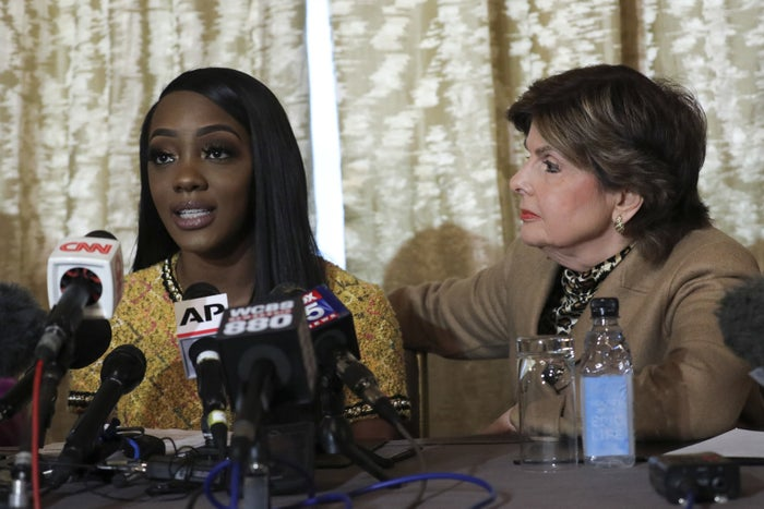 Faith Rodgers (left) and Gloria Allred.