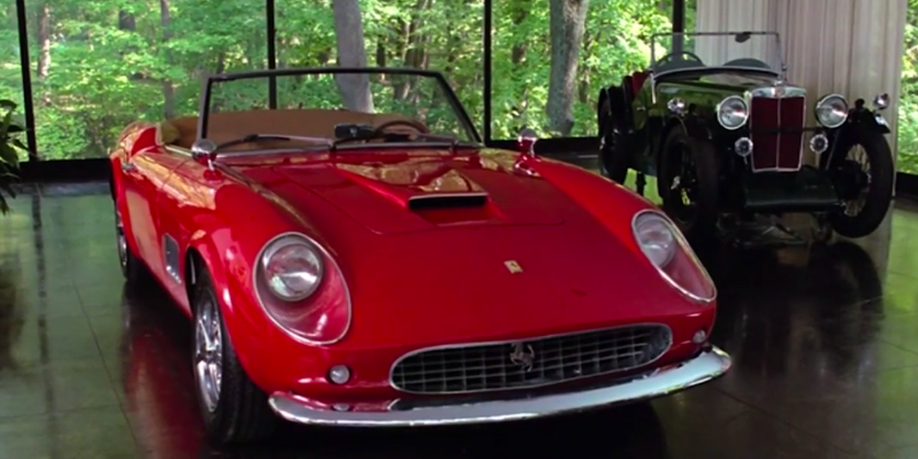Cameron's father's badass car in Ferris Bueller's Day Off was actually a replica, costing $25,000 because the real deal would have cost the production $300,000.