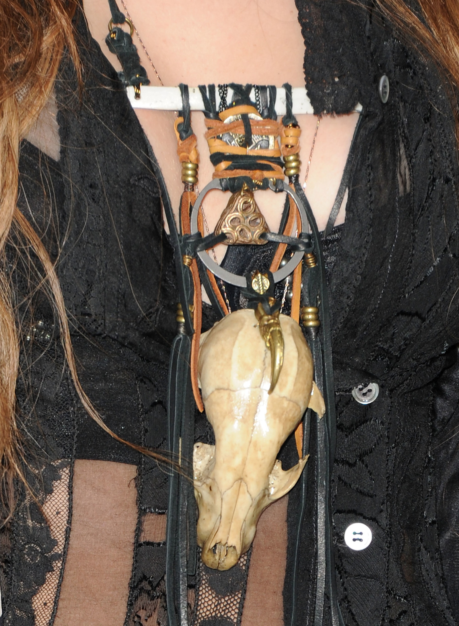 Miley wore a literal animal skull