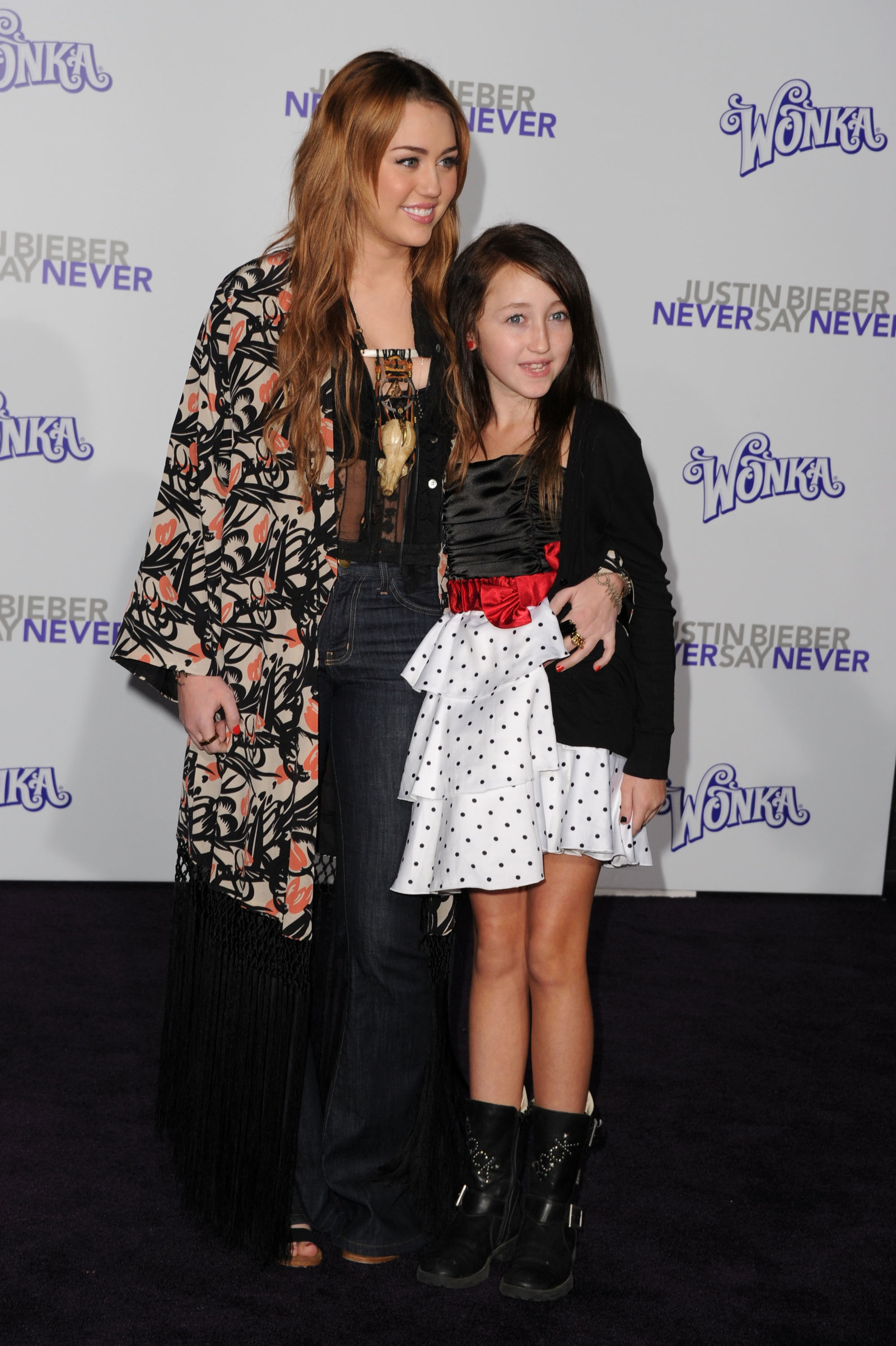 Miley Cyrus and a young Noah Cyrus