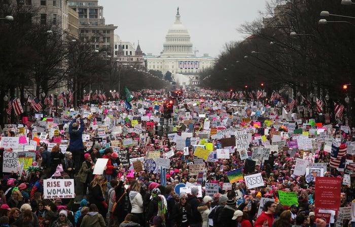 The Women's March on Washington, Jan. 21, 2017.