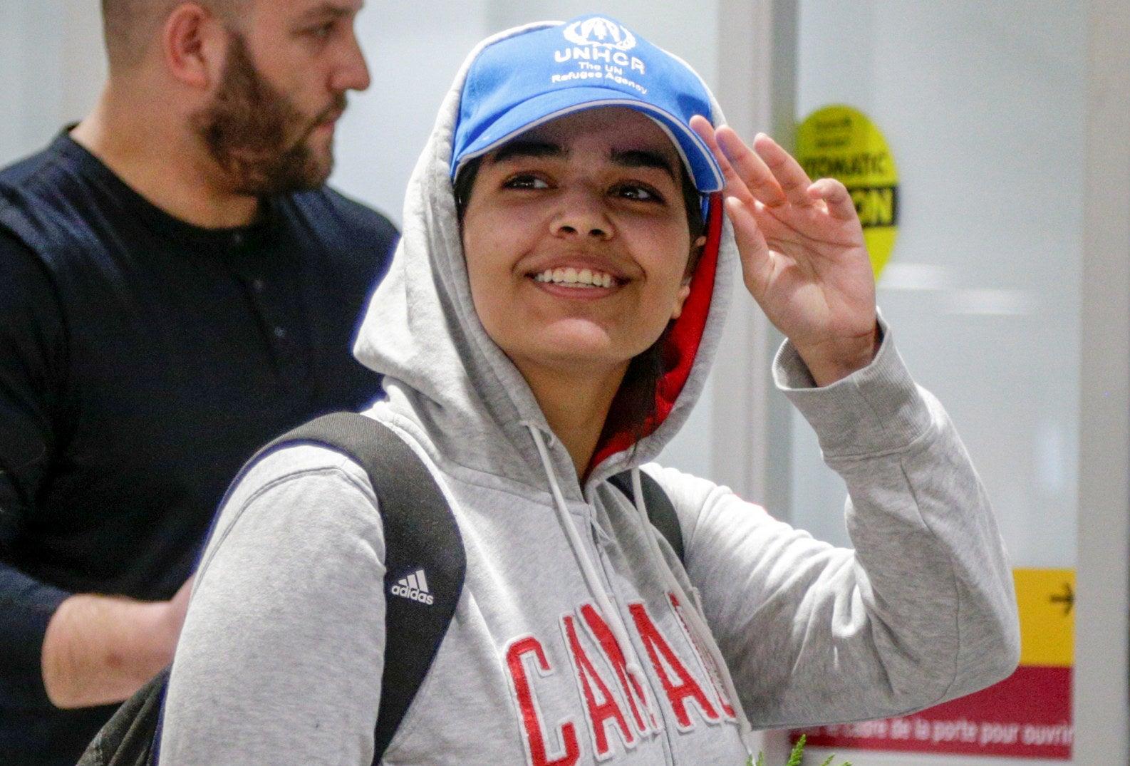 Qunun arrives at Toronto Pearson International Airport Jan. 12.