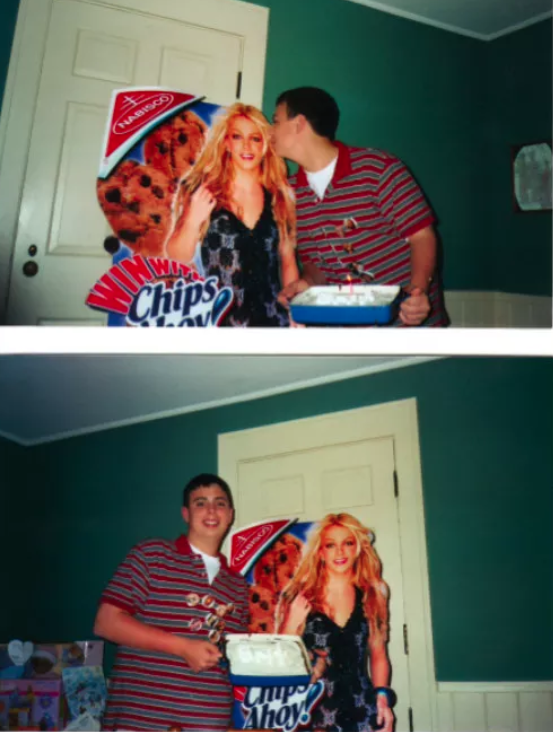 "I baked a cake and forced my family to sing ""Happy Birthday"" to a Britney Spears cardboard cutout."