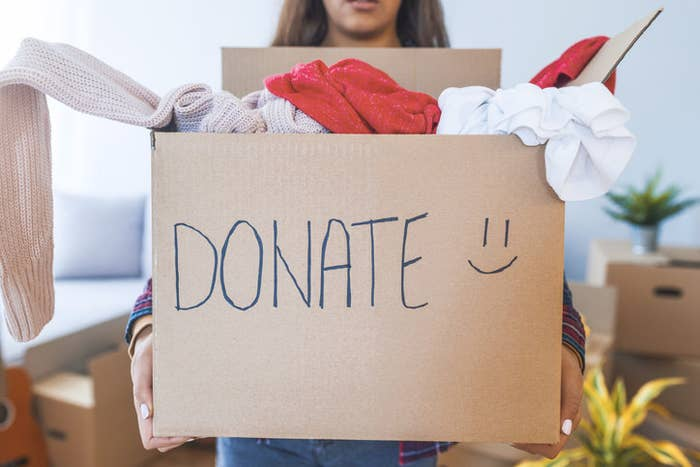 Of course you can donate clothing! Anything from T-shirts and coats to shoes and accessories are accepted. As a general rule, you only should donate clothing that's actually wearable, e.g,. all items should be washed and free of stains, holes, and rips.