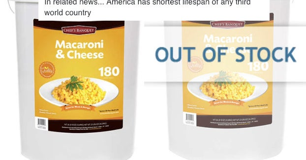 Costco Is Already Sold Out Of Those 27-Pound Tubs Of Mac-N-Cheese