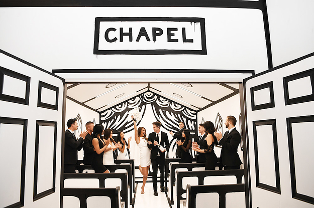 This Black-And-White Wedding Chapel Is Total Instagram Bait