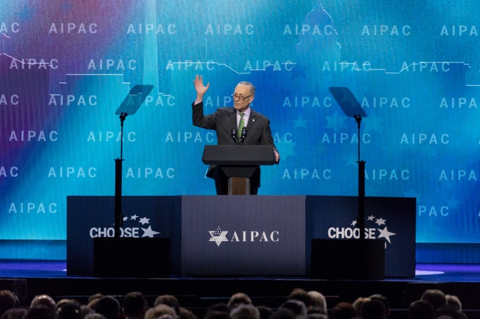 Sen. Chuck Schumer, addressing the 2018 AIPAC Policy Conference in Washington, DC, March 5, 2018.