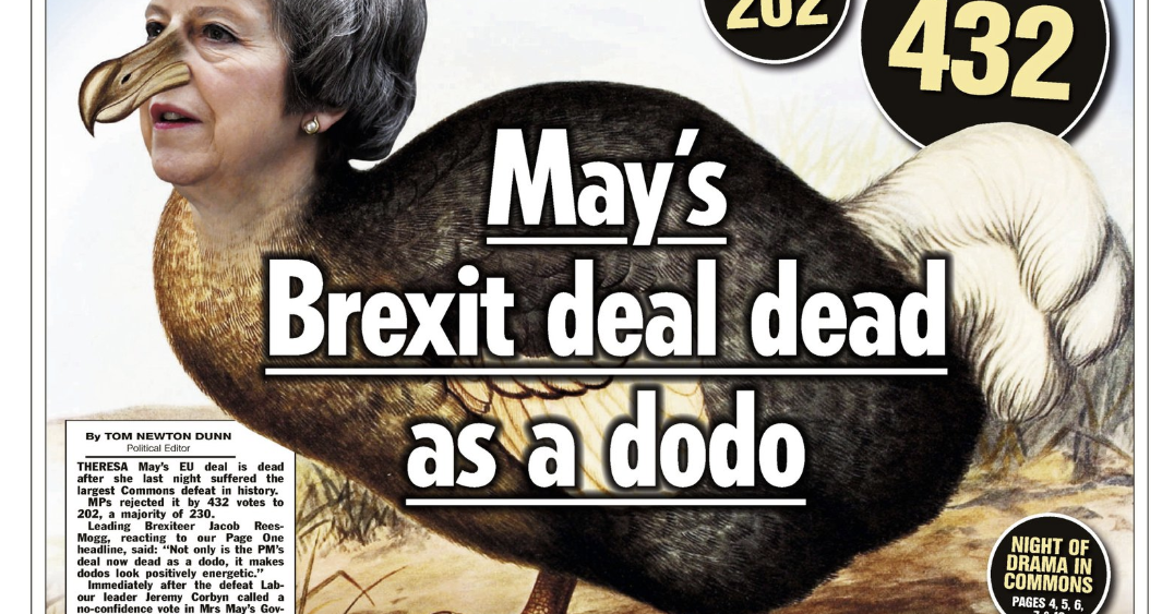 Here Are The Front Pages The Morning After The Truly Epic Brexit Defeat