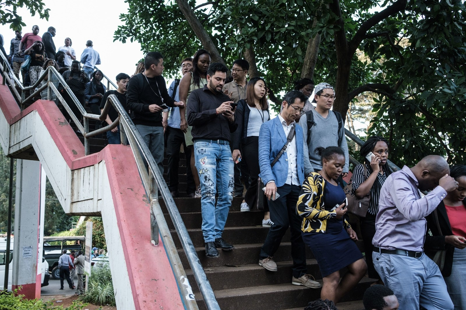People are evacuated from DusitD2 compound