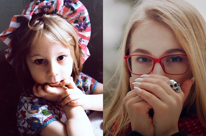 Irene Kuzemko as a child (left) and as an adult.