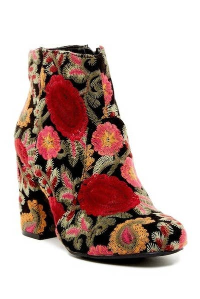 39fd5be1196 A seriously showstopping embroidered ankle boot you ll be searching for  excuses to wear weekly