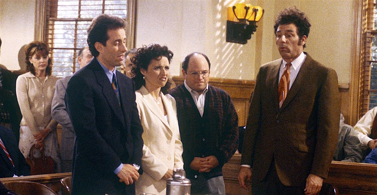 In  an alternate ending ,  Seinfeld  almost ended with the jury finding the gang not guilty instead of guilty.