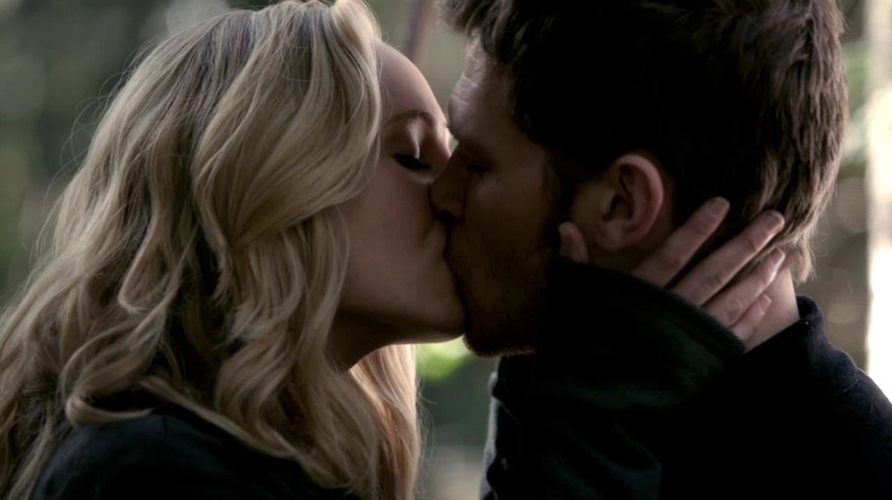 "Also,  The Originals  was going to end with  Klaus and Caroline getting together  —  The Vampire Diaries  ending changed this one. -  Julie Plec  said , ""Once Caroline and Stefan found love and got married and she lost him, it never really felt right to have Caroline move past Stefan's memory to go travel the world for all eternity with Klaus."""