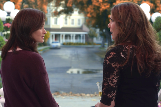 "And finally,  Gilmore Girls  was originally supposed to end with  Rory going off to grad school and learning that she's pregnant  — of course, we see a version of this ending in  Gilmore Girls: A Year in the Life . -  ""Mom?"" ""Yeah?"" ""I'm pregnant."""