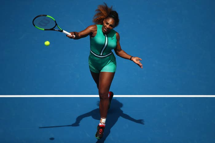 594af55e6953 Serena Williams Wore A Romper With Fishnets At Her Latest Match And ...