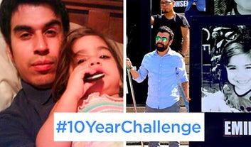 El padre de una pequeña de la Guardería ABC encontró la forma de crear conciencia con el #10YearChallenge