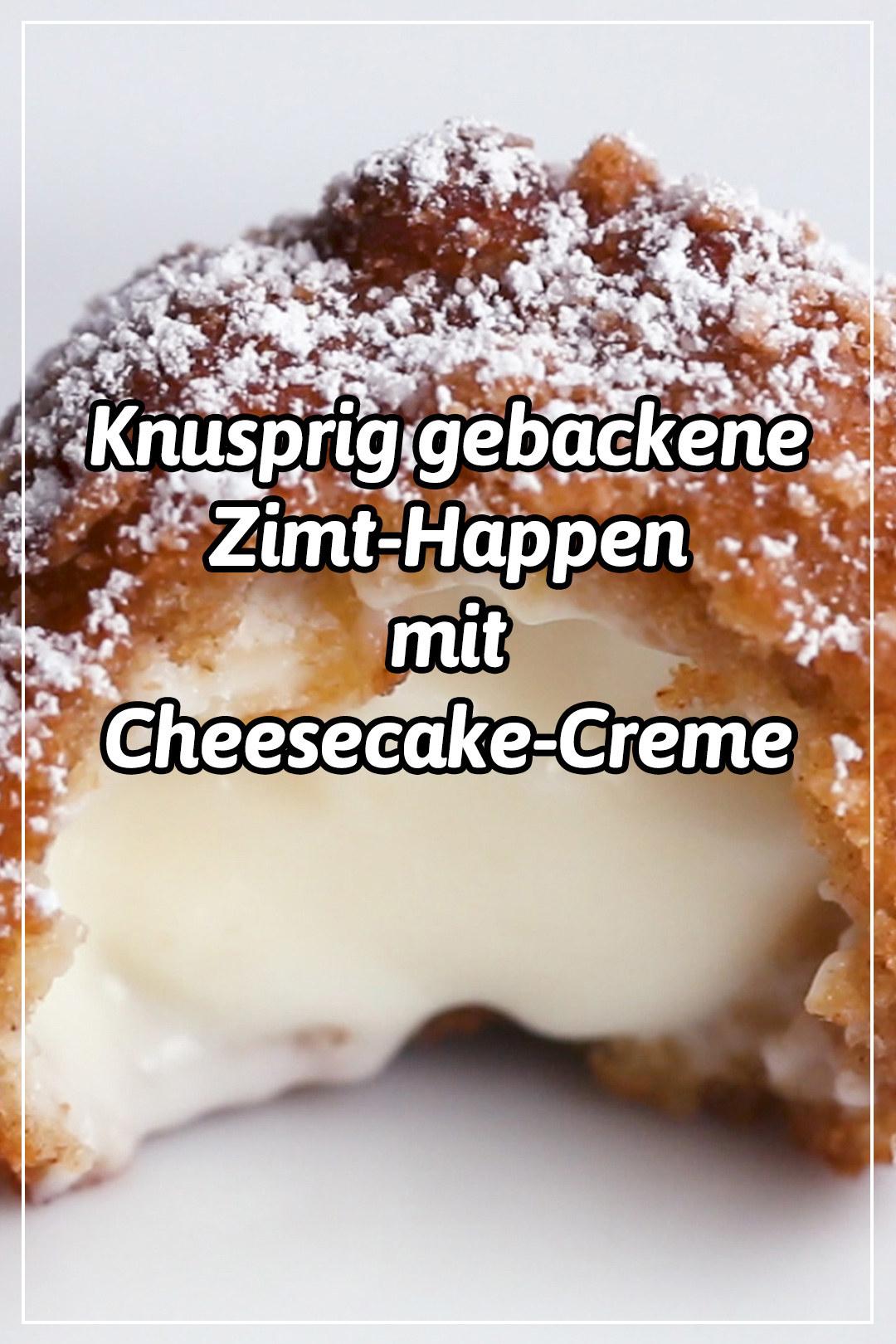Diese knusprigen Zimt-Cheesecake-Happen sind genau das, was du jetzt willst!