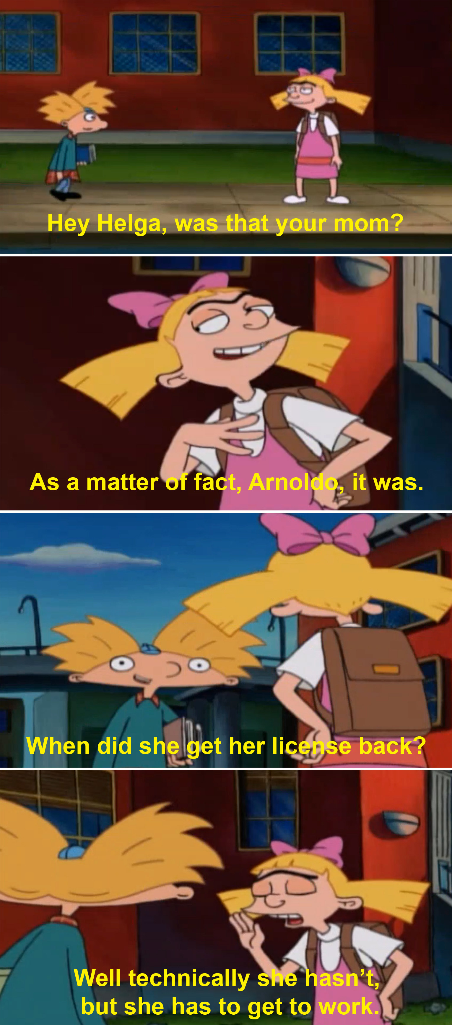 Helga Pataki's Mom Was Definitely An Alcoholic And It Went Right Over My Head