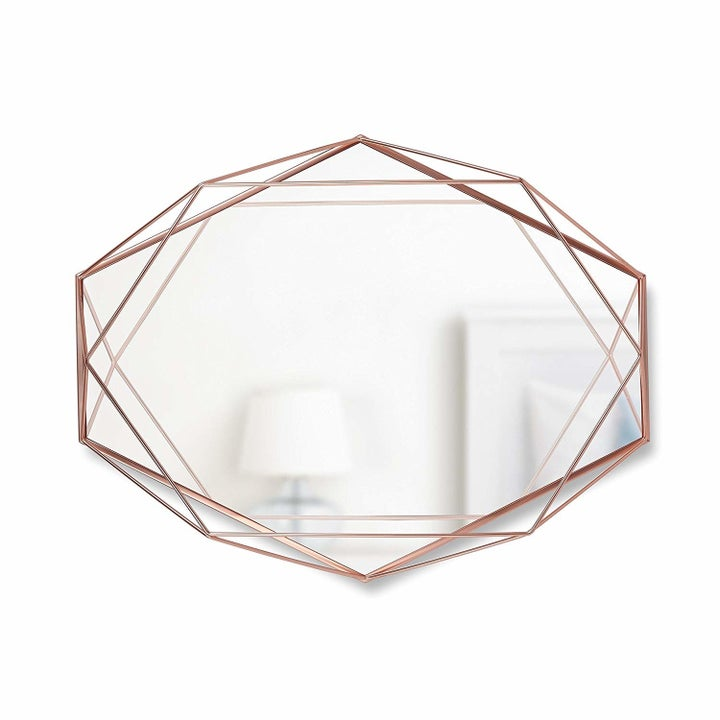 a hexagon-shaped mirror