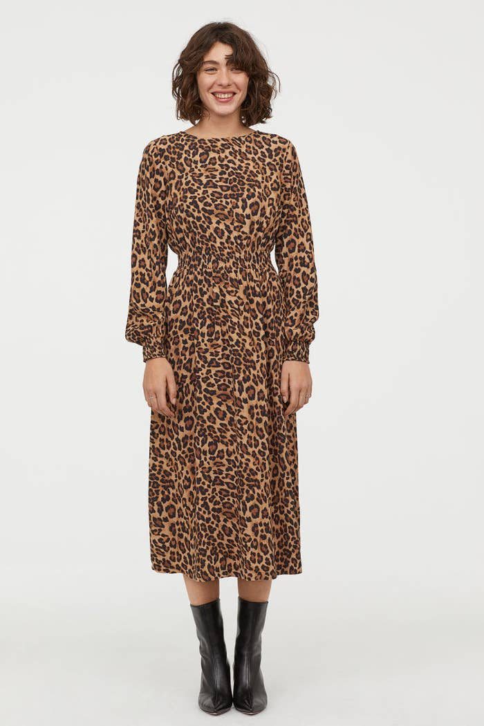 A leopard-print maxi with a smocked waistline that ll make you forget about  jeans all together. 1db535f763859