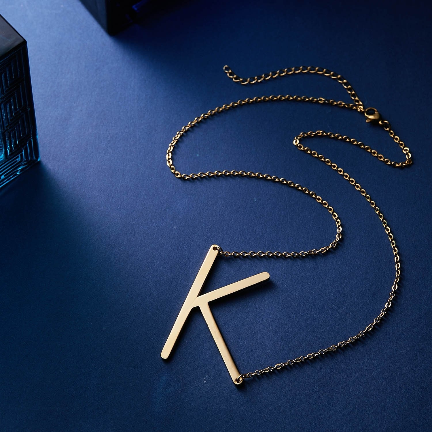 large k pendent on necklace