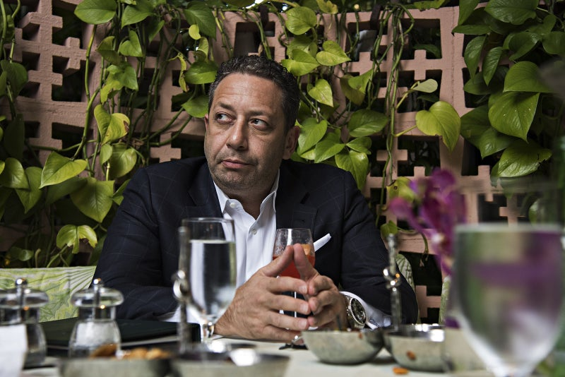 Felix Sater, who worked with Michael Cohen to get Trump Tower Moscow built, at the Beverly Hills Hotel in 2018.
