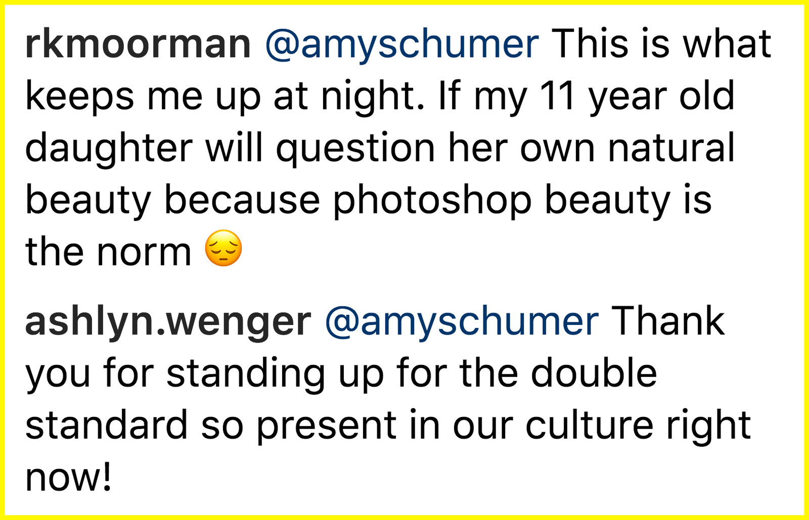 "Amy Schumer Just Shut Down An Instagram User Who Photoshopped Her To Be ""Insta Ready"""