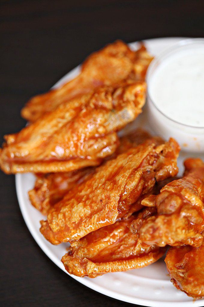 it wouldn't be a Super Bowl party without buffalo wings. Get the recipe here.
