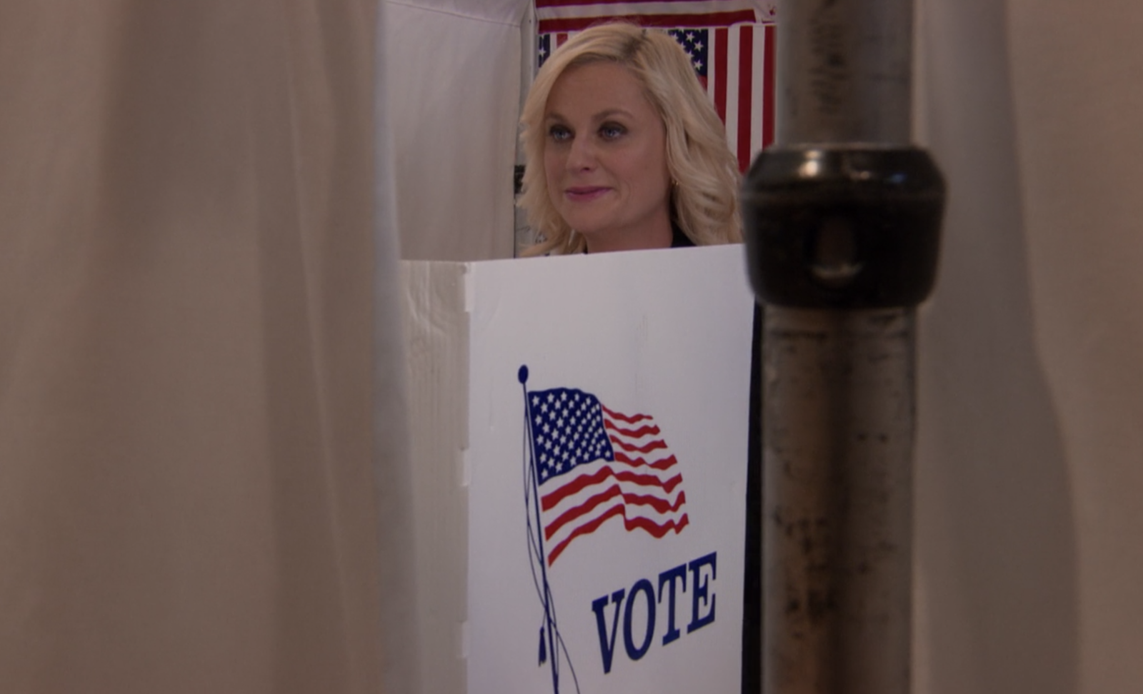 When Leslie voted for herself on  Parks and Recreation .